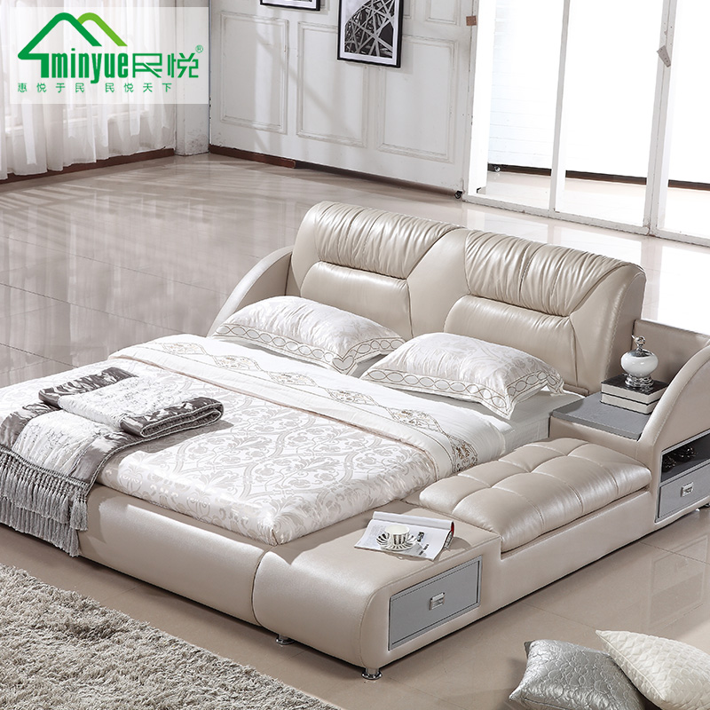Captivating Get Quotations · China Yue Tatami Double Leather Bed Leather Bed Soft Pack  Bed 1.8 M Software Bed Marriage