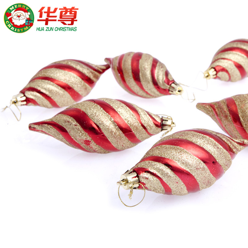 China zun christmas 12CM screw tip fruit christmas tree ornaments christmas decorations christmas gifts 6 loaded
