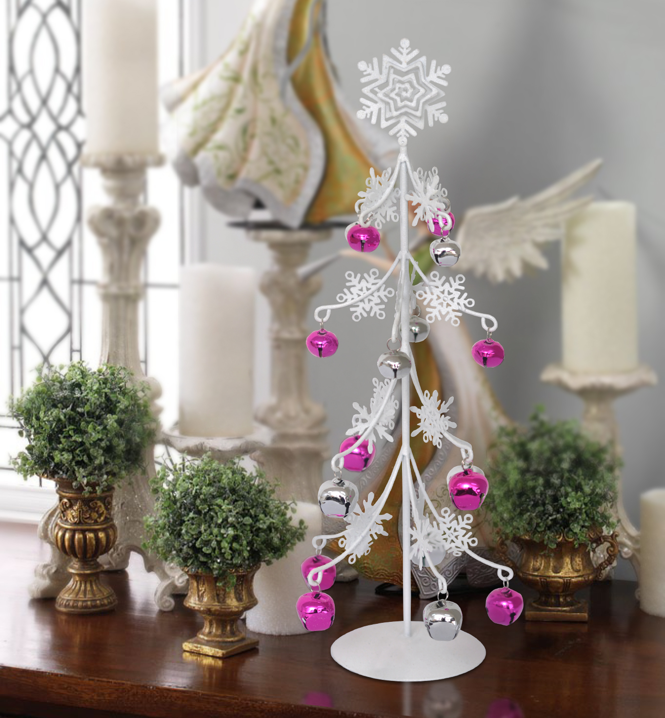 China zun christmas decorations snowflakes iron tabletop mesa small christmas tree ornaments christmas tree mini christmas