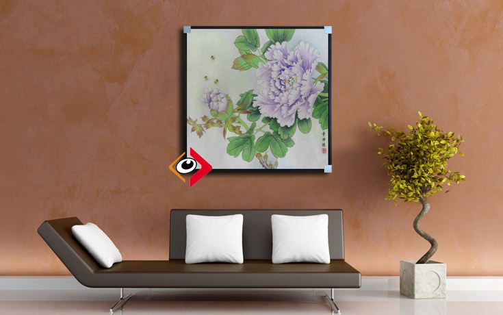 Chinese decorative painting framed painting lotus flower and bird painting freehand brushwork painting neoclassical living room bedroom home with paintings
