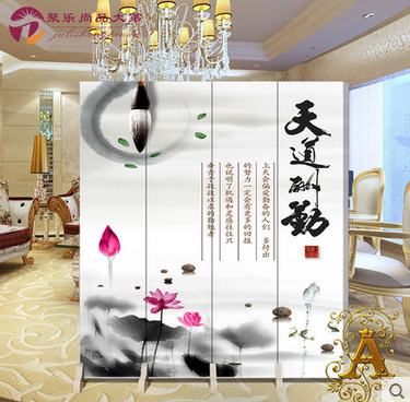 Chinese wood wall panels stylish minimalist living room bedroom home office hotel mobile folding screen rich flowers