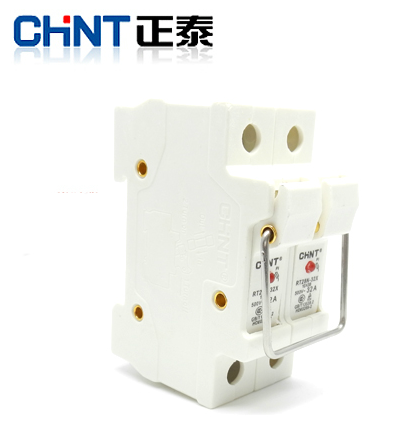 Chint cylindrical cap fuse holder fuse holder fuse holder rt28-63x 2 p with light without fuse