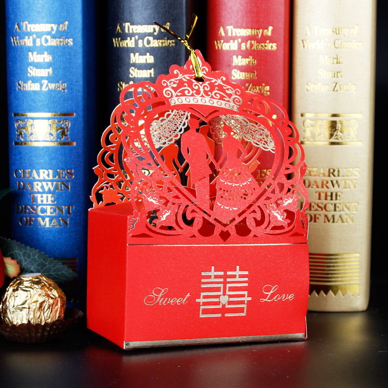 Choi shi hollow creative wedding candy box candy box wedding candy box candy box korean small gift box wedding supplies