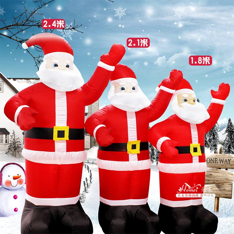 Christmas decorations 2.4 inflatable santa claus inflatable christmas inflatable santa claus supermarket mall layout