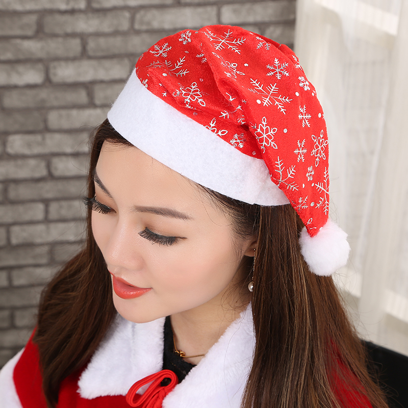 Christmas decorations christmas gifts christmas hats santa claus hat adult children red christmas hat