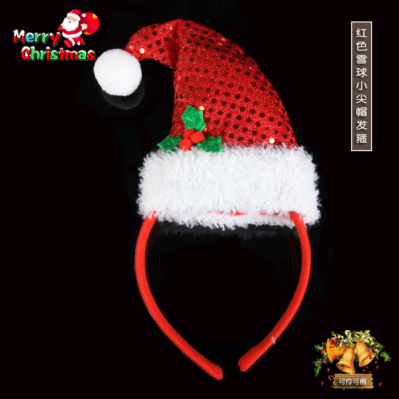 Christmas decorations christmas headband long pointed hat hair hoop headband headdress christmas party supplies christmas decorations