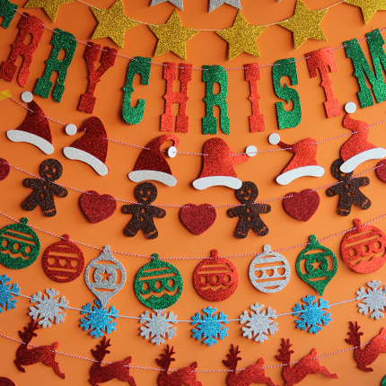 Christmas decorations eva mall storefront arranged dress christmas decorations christmas tree christmas deer letter garland