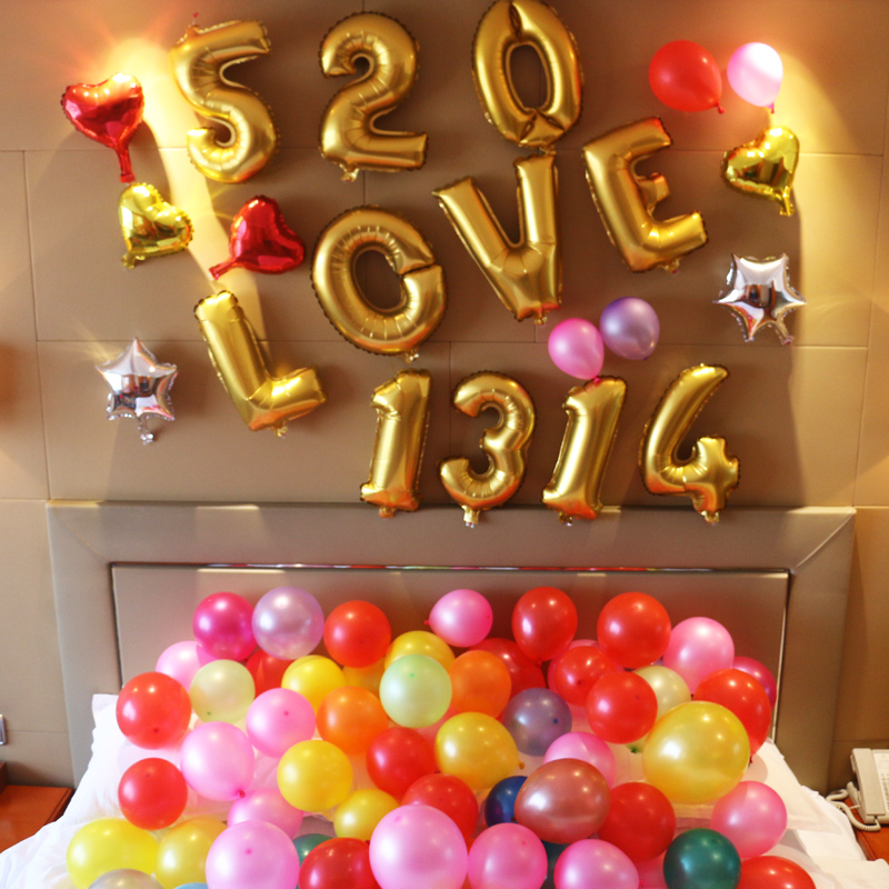 Christmas new year's day birthday party arranged marriage room wedding celebration ceremony digital aluminum balloons balloon english alphabet