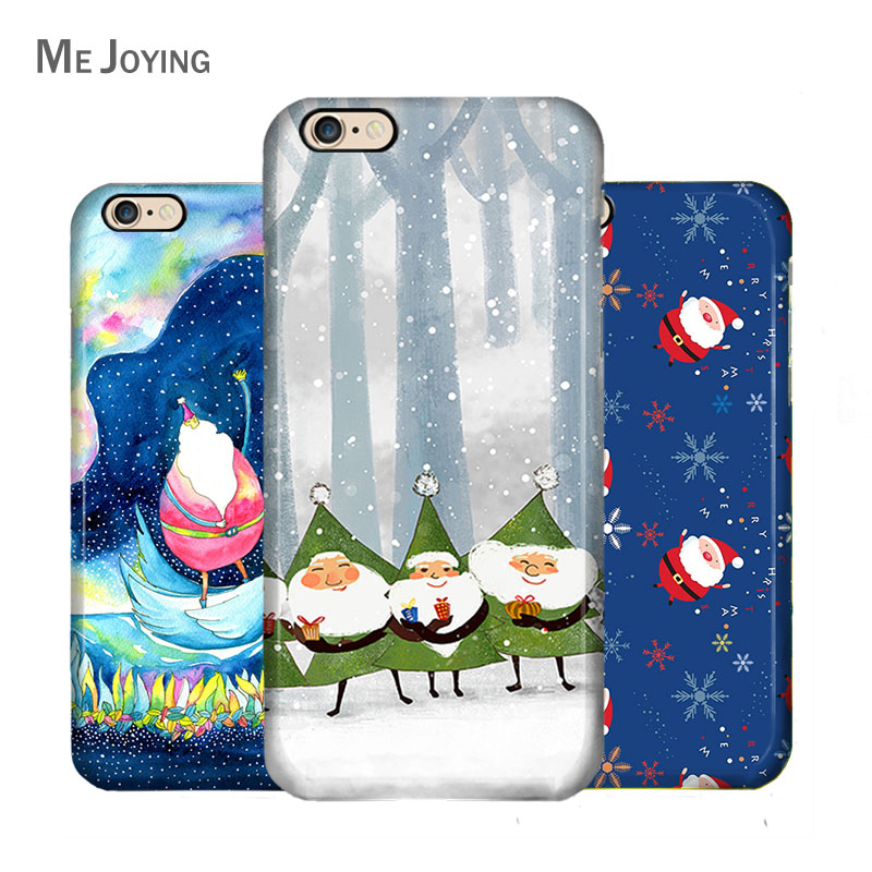 Christmas series iphone6 phone protective sleeve apple 5 s/6 s/6 plus christmas swim phone hard shell