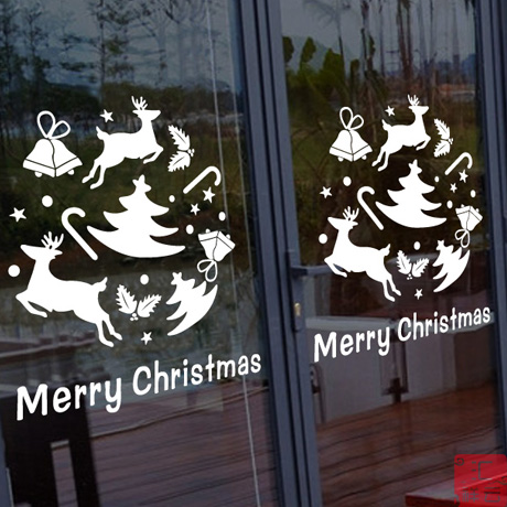 Christmas window stickers affixed stickers decorative grilles glass door stickers shop glass window stickers affixed grilles window stickers christmas scene