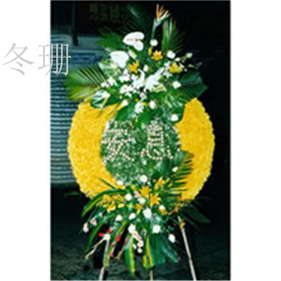 Chrysanthemum flower delivery shanghai and beijing lay funeral memorial memorial funeral baskets funeral white matter