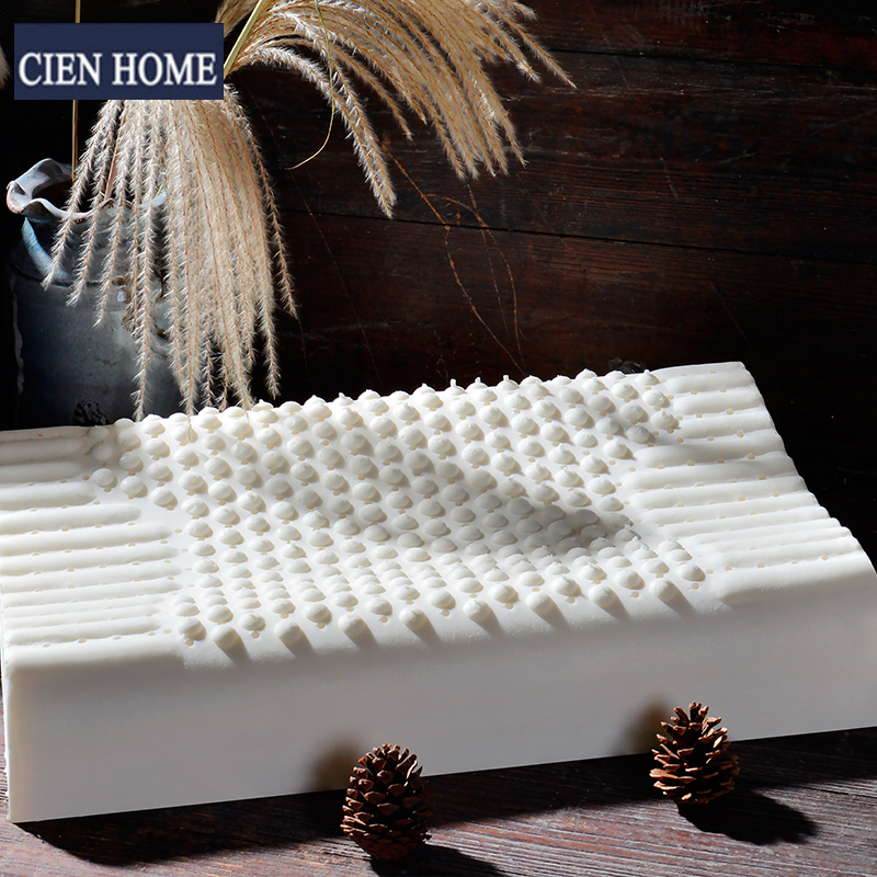Cienhome thailand natural latex pillow neck pillow cervical pillow health pillow pressure relief massage rubber imports