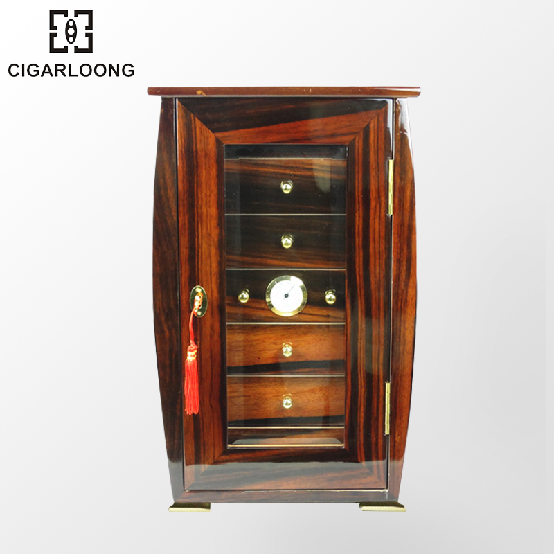 Cigarloong eggplant long cigar cabinet cedar wood humidor cigar humidor cabinet piano paint ebony