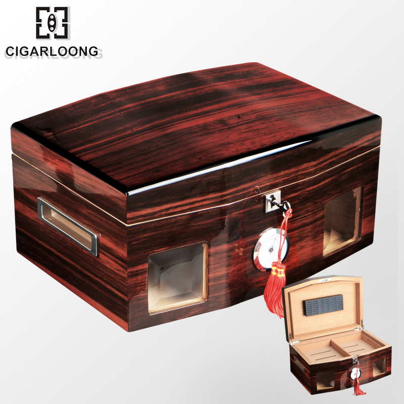 Cigarloong eggplant long transparent import moisturizing humidor cigar humidor cabinet humidor cigar box cedar wood