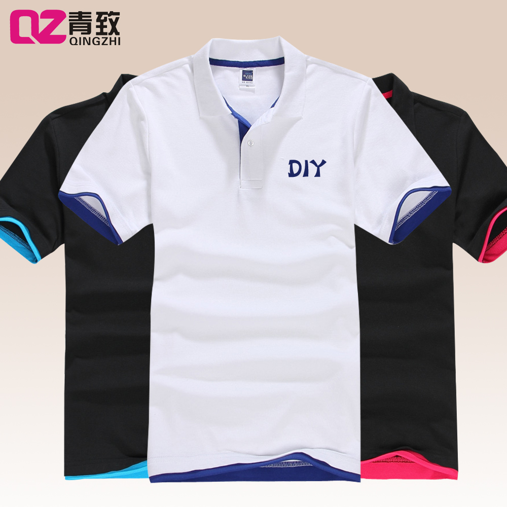 Class service custom t-shirt polo shirt lapel short sleeve t-shirt shirt nightwear overalls diy clothes printing