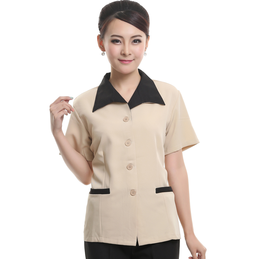 Cleaning clothes short sleeve female hotel uniforms overalls summer hotel cleaning service hotel cleaning staff uniforms short sleeve sleeve