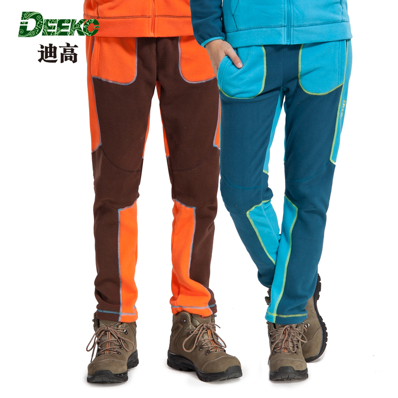 [Clearance] deeko/tego trousers authentic outdoor windproof breathable fleece trousers men and women thicker