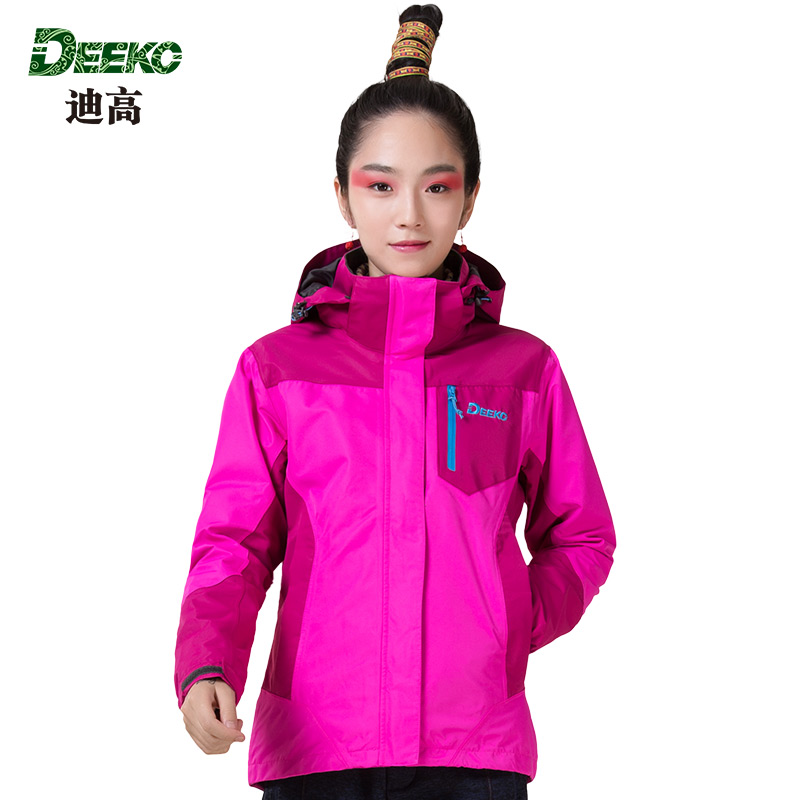 [Clearance] tego/deeko outdoor triple jackets men and women two sets of anti warm wind mountaineering camping