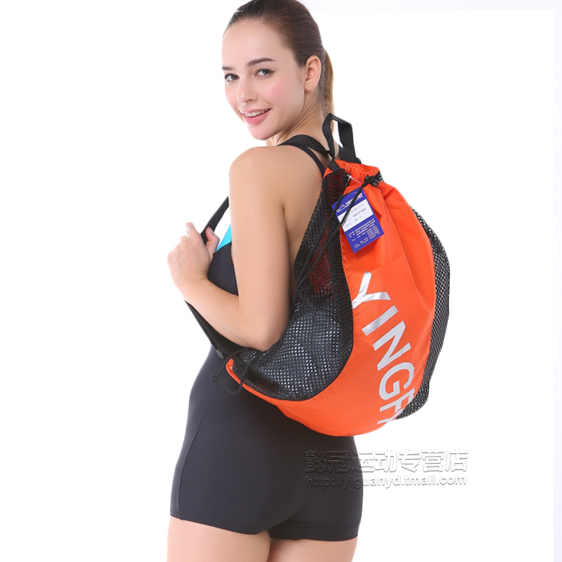 Climax swimming beach mesh storage bag backpack bag sports and fitness for men and women swimming equipment supplies special package