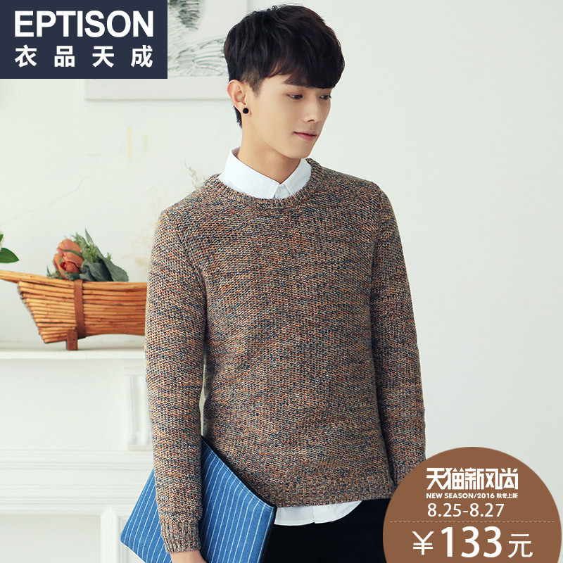 Clothing items tiancheng 2016 spring new men's fashion korean men pullover sweater cotton round neck sweater
