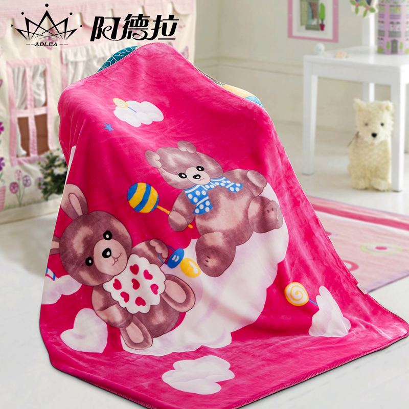Cn-325 can be washed children raschel blanket double thick winter blanket coral velvet blanket baby blanket