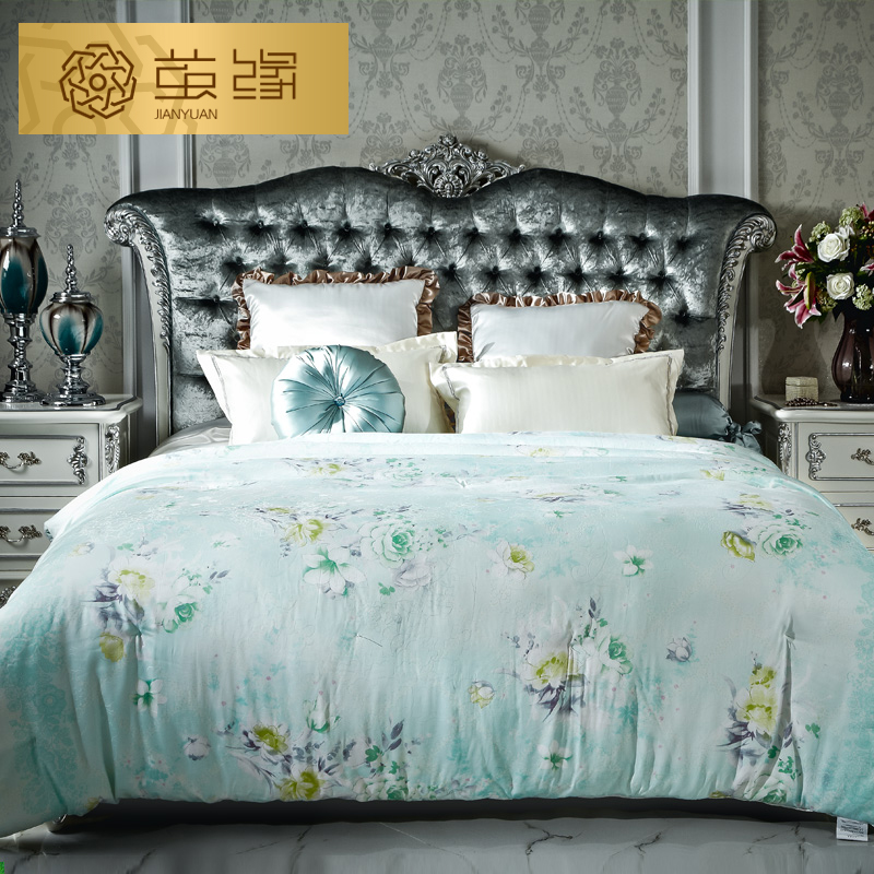 Cocoon edge silk printed silk is 100% natural silk quilt double quilt is picture is cool in the summer seasons are the core Special