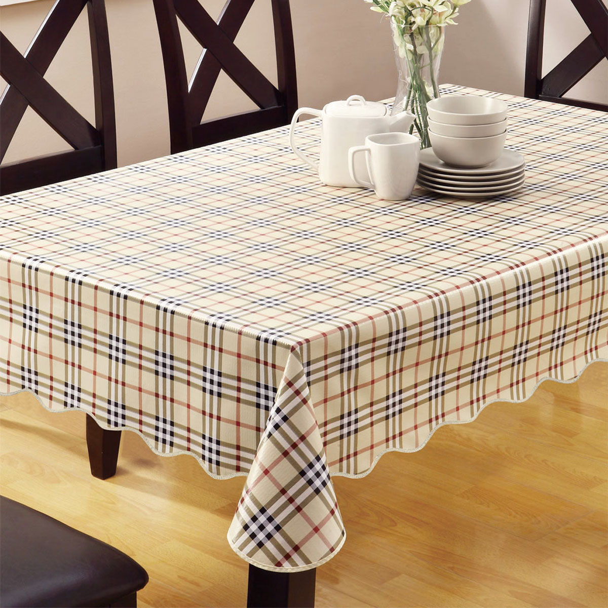 Coffee Table Cloth Round Mat Pvc Plastic Tablecloth