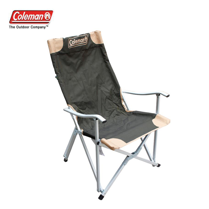 Coleman coleman outdoor luxury high backrest comfortable lightweight aluminum folding chair fishing chair leisure chair