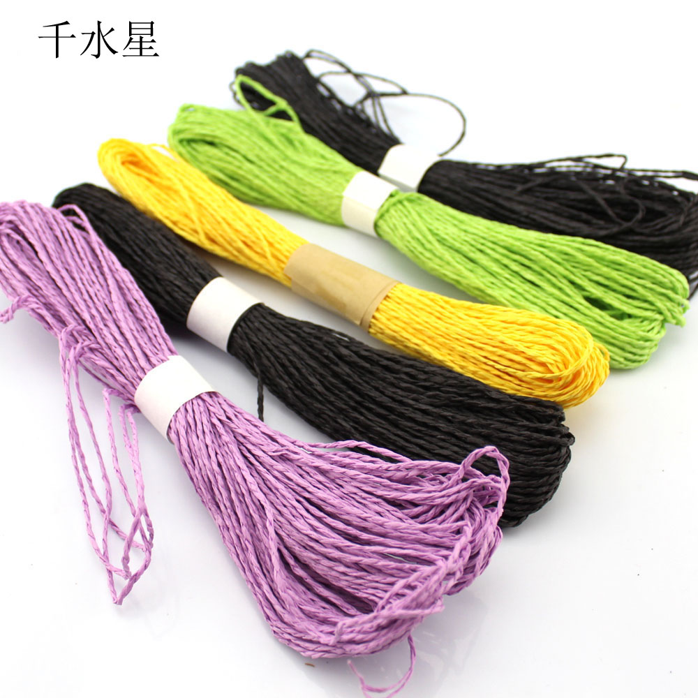 Color double strand woven zhisheng paper art diy handmade creative production of materials decorative rope pendant