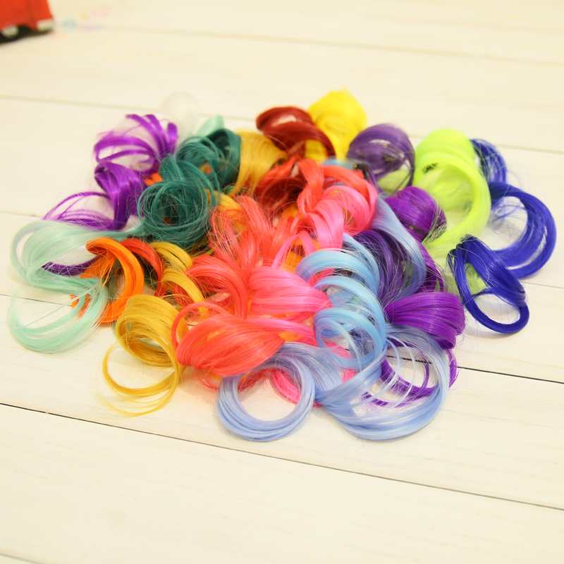 Color hair piece wig japanese harajuku european and american punk style hair piece color streaked wig piece hair piece