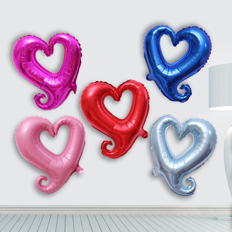 Colorful wedding new personality hollow love aluminum foil balloons birthday christmas wedding party decoration supplies furnished