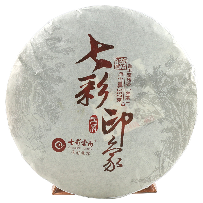 Colorful yunnan pu'er tea cooked pu colorful impression tortillas 357/g tortillas random year