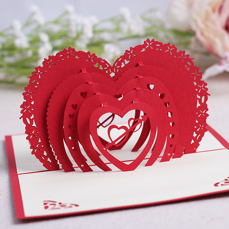 Commodities ni 3d soulmate paper sculpture greeting cards business greeting cards custom wedding invitation card tanabata valentine's day gift