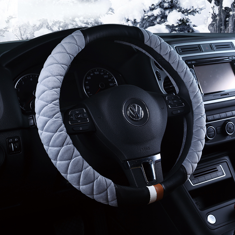 Common in autumn and winter plush car steering wheel cover snow angels ms. adams foker excelle sylphy dedicated grips