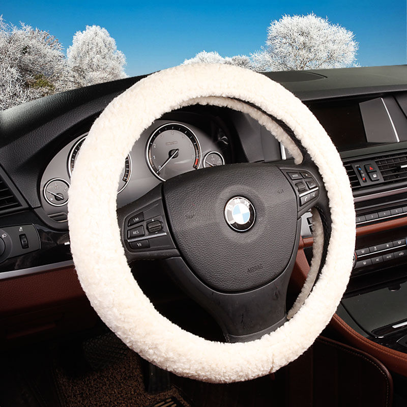 Common winter plush steering wheel cover new wool ms. lovely autumn and winter days warm car to cover