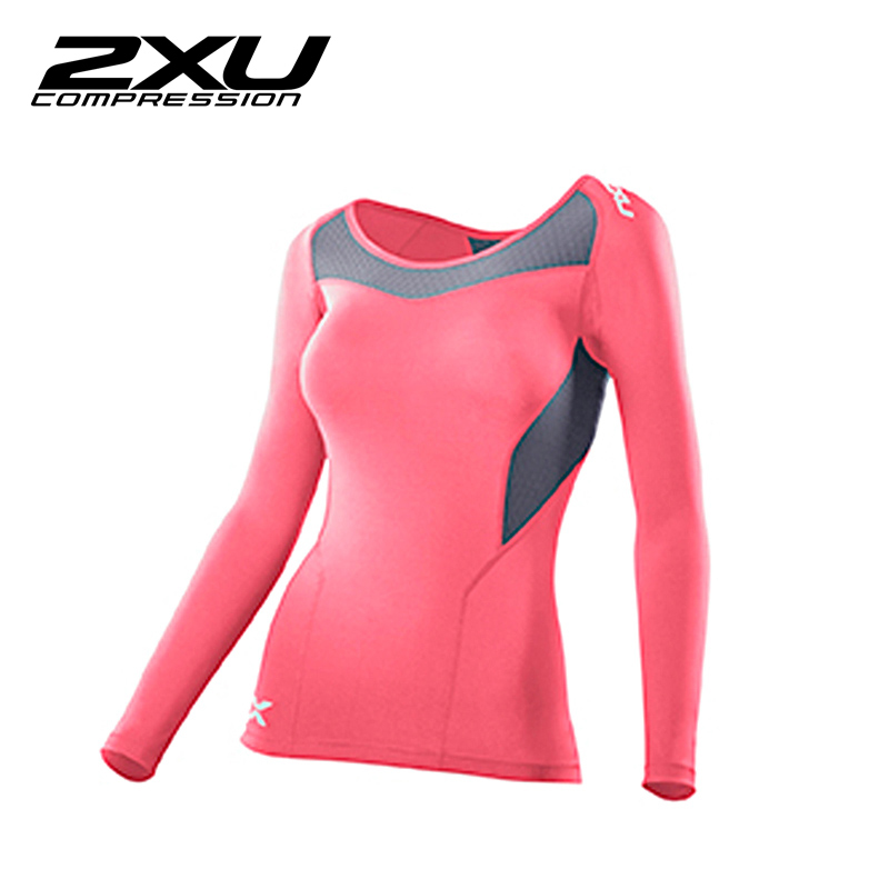 Comprehensive training function 2xu compression compression equipment sports sleeved t-shirt female coat WA2270a