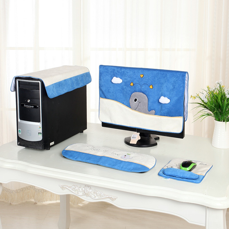 Computer enclosures computer sets cute fabric dust cover desktop lcd monitor one machine cover cloth post