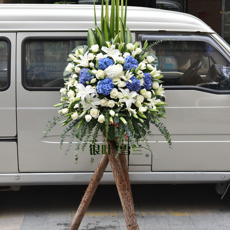 Concert conference exhibition opening baskets housewarming baskets flower delivery in hangzhou city distribution of hong kong style blue flowers