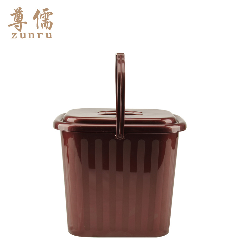 Confucian respect for the tea leaves plastic bucket bucket hot tea waste bucket bucket bucket thicker type of drainage barrel barrel barrel barrel debris bucket