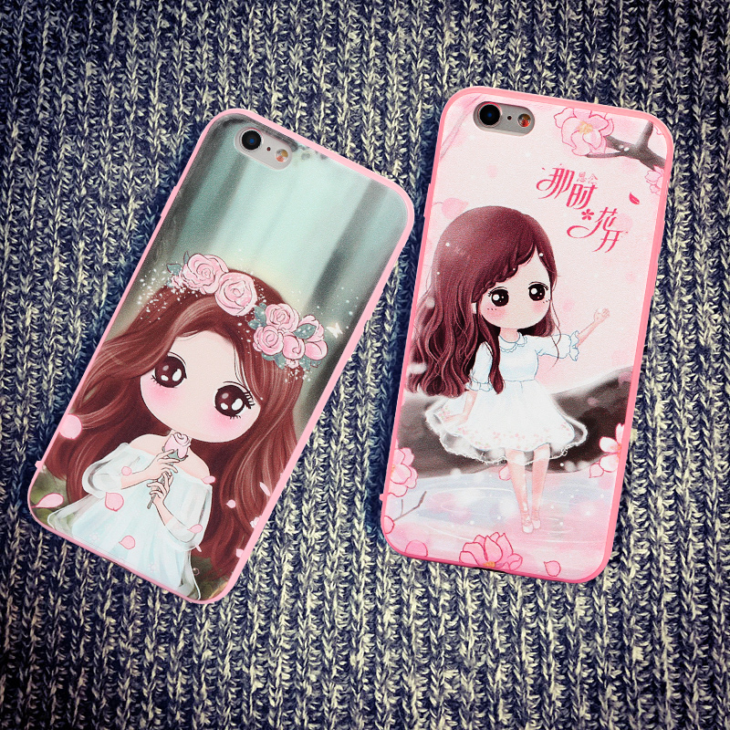 785992327316 Get Quotations · Conner 5se cartoon illustration of hard and soft shell  apple 6 phone shell iphone6plus drop outside