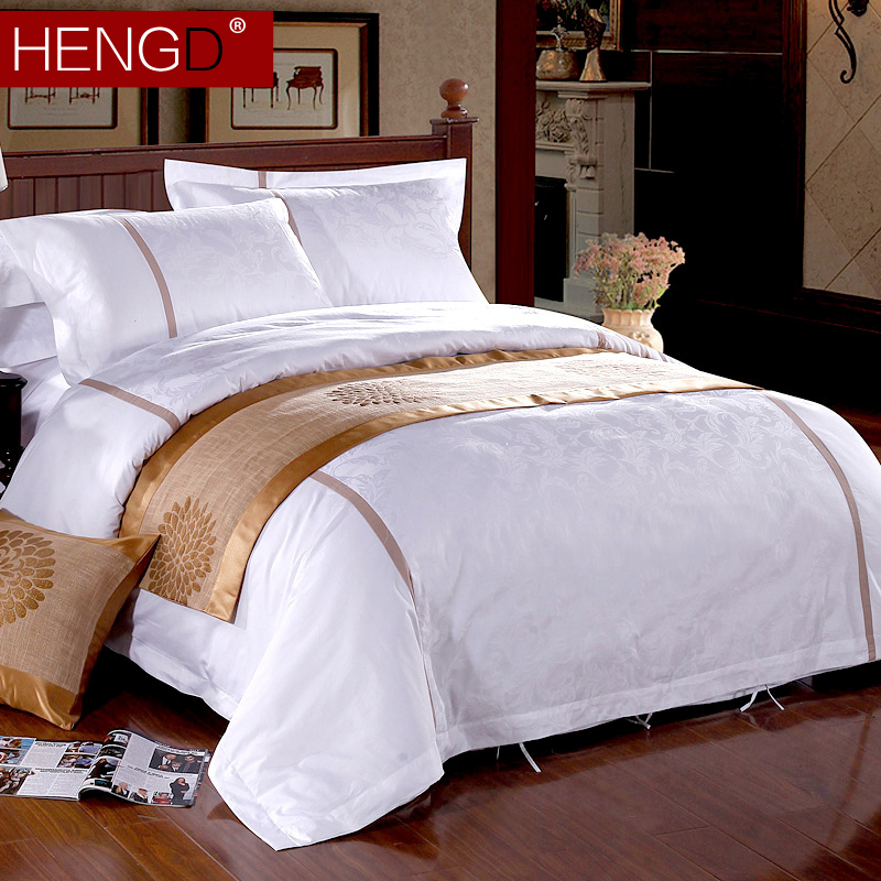 Constant code textile hotel linen hotel clubs satin jacquard denim bedding cotton solid color 6040