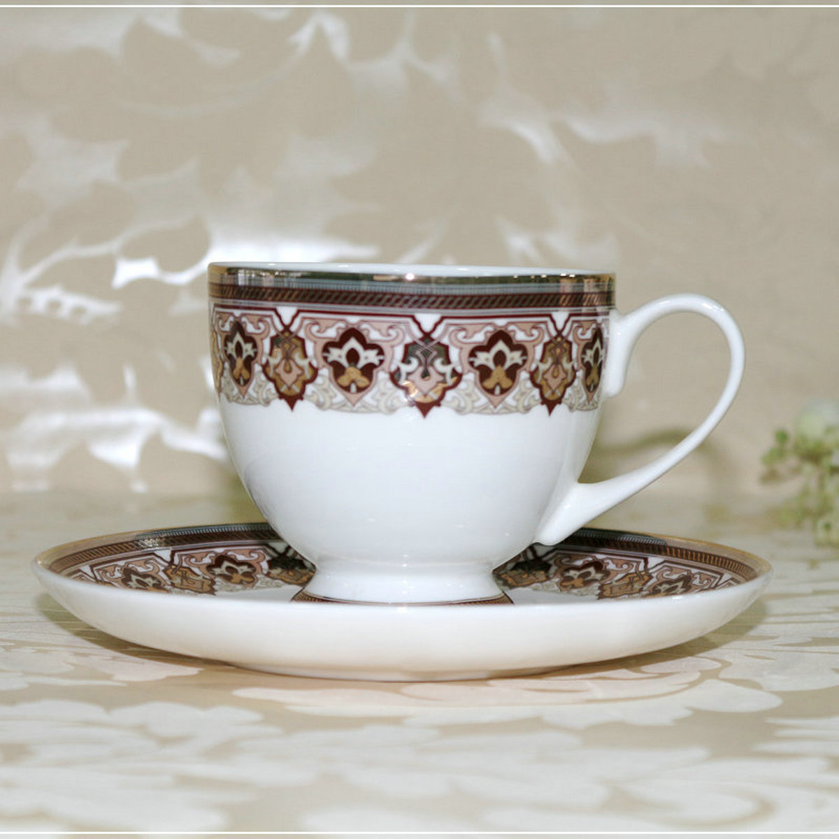 Continental bone china coffee cup tea cup ceramic cup and saucer coffee cup suit european cup bone china coffee set with