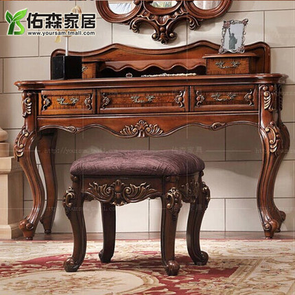 Continental carved wood dresser american classical romantic french wood dresser dressing table vanity benches h
