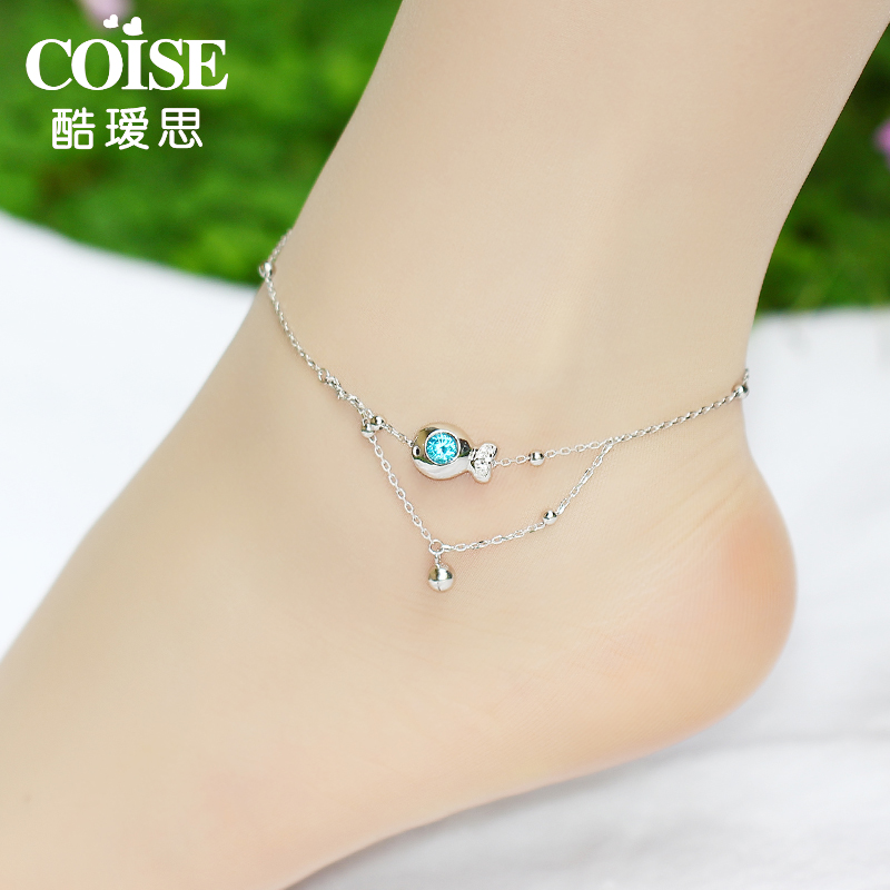 double personality fema couple cool women anklet fashion simple retro anklets feet item velvet