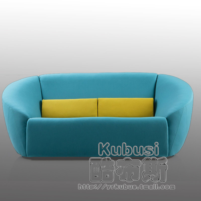 Cool booth fabric sofa modern minimalist living room corner apartment size sofa furniture pibu