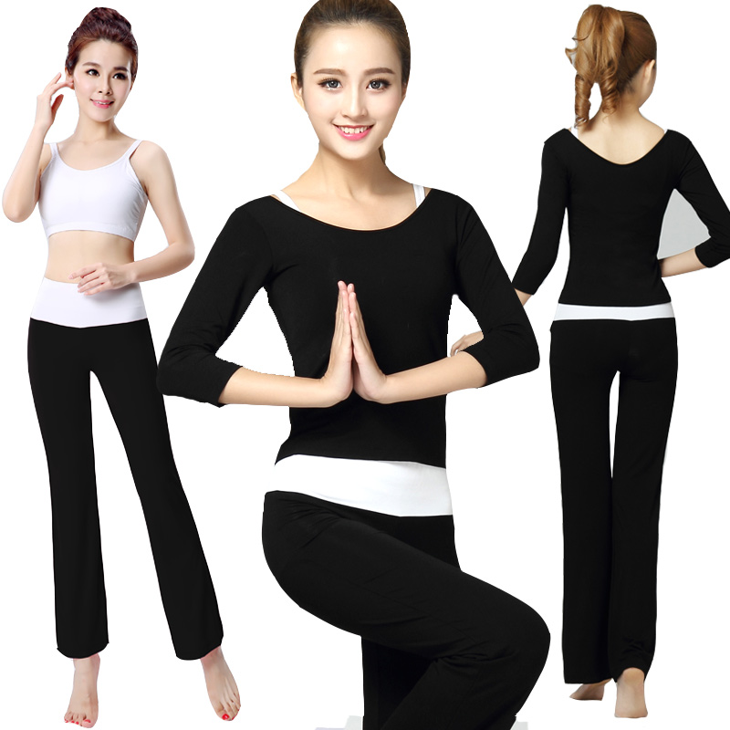 Get Quotations · Cool dance yoga clothes suit three sets of ladies long  sleeve spring and summer sports gym 2c4bd4062