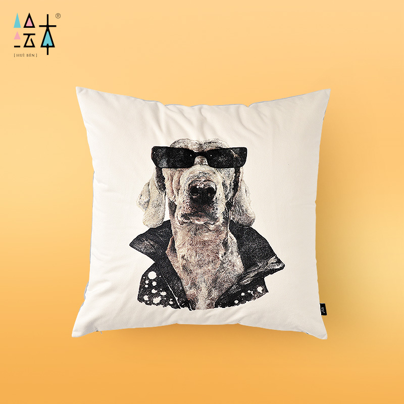 Cool dog series of picture books zhao na creative arts cushion sofa cushion pillow core containing short plush pillow cushion by the package