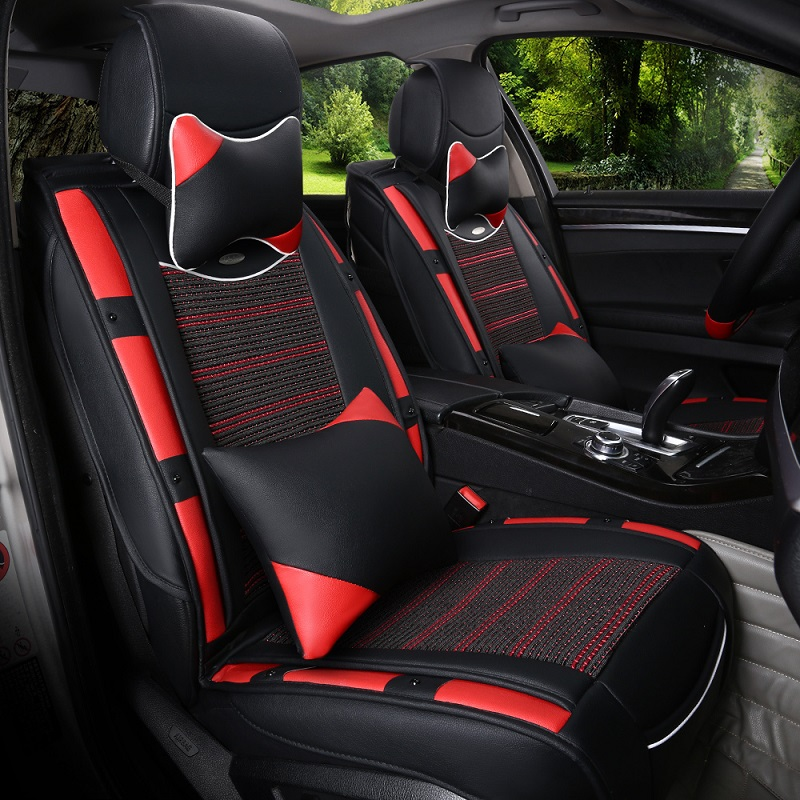 Cool new summer ice silk car seat cover seat cover sets four seasons general cute little cards for men and women through the whole package seat cover seat cover car cover car cover