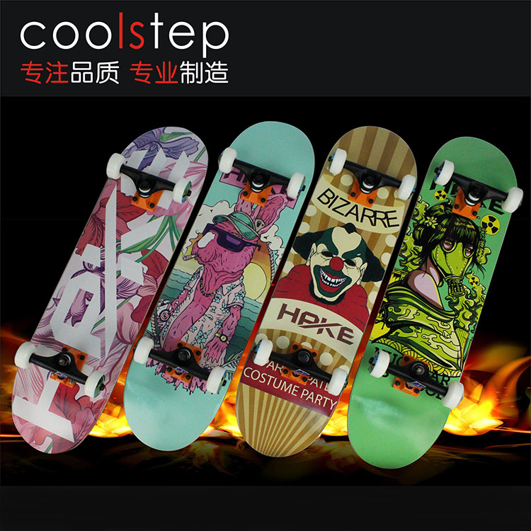 Coolstep skateboard skateboard four double alice senior adult professional skateboarding skateboard scooter brush street movement assembly plate
