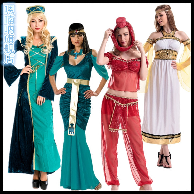 ae3eb495c Get Quotations · Cos cleopatra clothing belly dance costumes india arab  girl greek goddess halloween costume play clothes